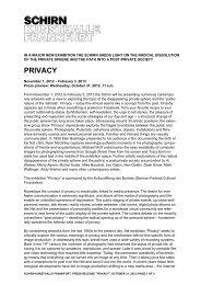 Press release - Schirn Kunsthalle Frankfurt