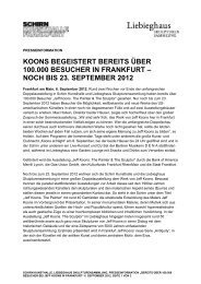Presseinformation - Schirn Kunsthalle Frankfurt