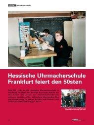 HUS feiert den 50sten - Hessische Uhrmacherschule