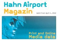 Hahn Airport Magazin CONDITIONs - HahnAirport Magazines