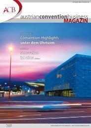 austrianconventionbusiness MAGAZIN onnbusiness s business