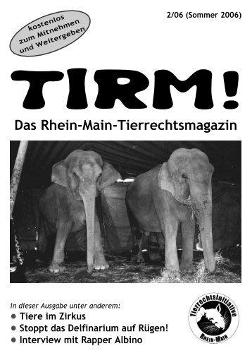 Das Rhein-Main-Tierrechtsmagazin - Tier-im-Fokus.ch