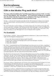 Karriereplanung | Magazin TRAiNiNG - Dr. Kraus & Partner