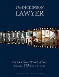 TheDICKINSON - Penn State Law - Pennsylvania State University