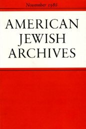 Rethinking The American Jewish Experience