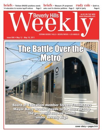 The Battle Over The Metro: Board Of Education - Beverly Hills Weekly