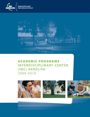 (idc) herzliya 2009-2010