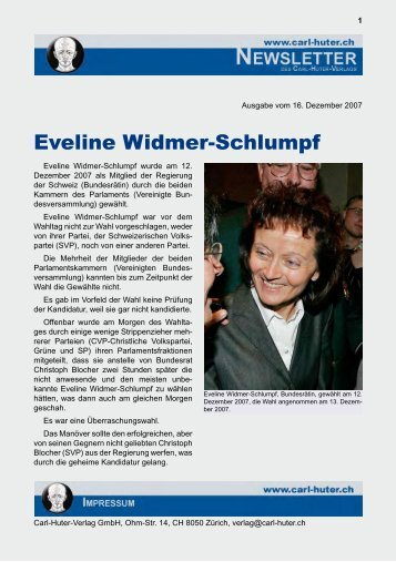 Eveline Widmer-Schlumpf - Carl Huter