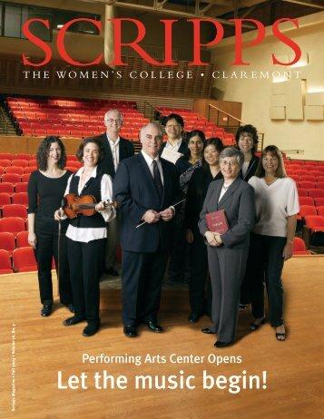 Let the music begin! - Scripps Magazine - Scripps College