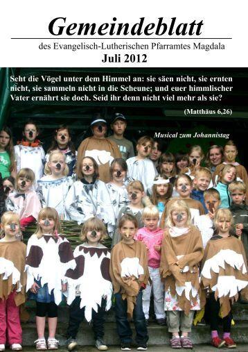 Amtliche Mitteilungen - Kirchspiel Magdala/Bucha