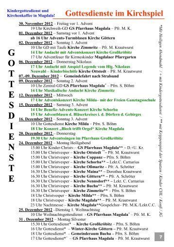 Gemeindeblatt Dezember 2012.pub - Kirchspiel Magdala/Bucha