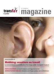 Mobbing: vexations au travail - transfair