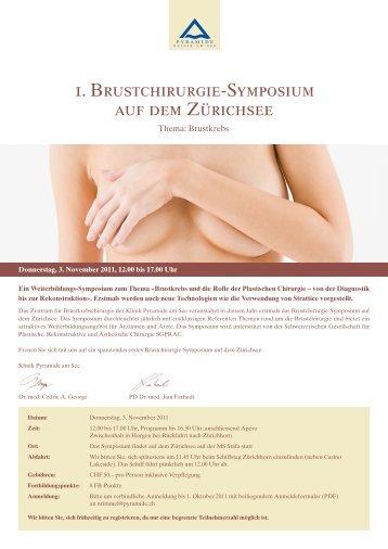 1. Brustchirurgie-Symposium auf dem Zürichsee - SGPRAC
