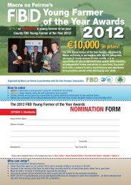 FBD Young Farmer of the Year Application - Macra na Feirme