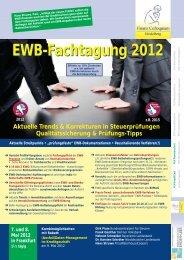 EWB-Fachtagung 2012 - Finanz Colloquium Heidelberg
