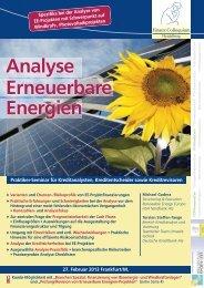 Analyse Erneuerbare Energien - Finanz Colloquium Heidelberg