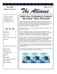 June 2008 Volume 10 Issue 6 Page 1 of 4 - Alliance for Cultural and ...