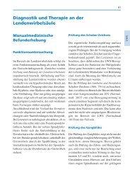 Manuelle Medizin, 5. Auflage, S. 61 - S. 106 - Spitta