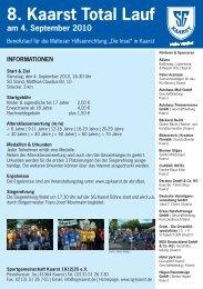 Kaarst Total Lauf Flyer 2010.indd