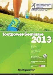 Seminarfolder Footpower 2012