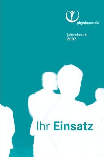 pa Jahresbericht 2007 F7 - Physio Austria