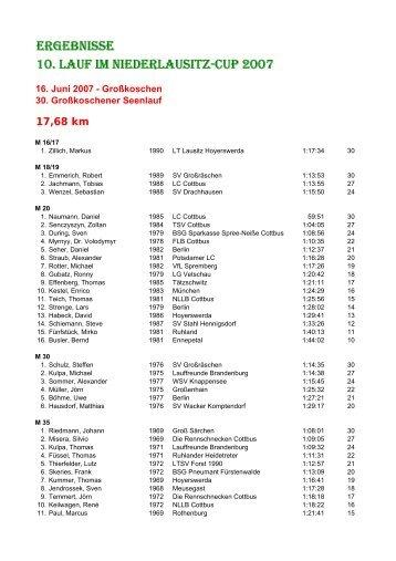 30. Großkoschener Seelauf - Niederlausitzcup - Niederlausitz-Cup