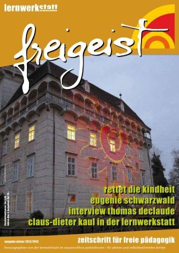 rettet die kindheit eugenie schwarzwald interview ... - Lernwerkstatt