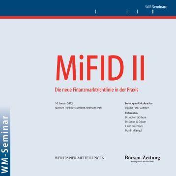 MiFID II – Die neue Finanzmarktrichtlinie in der Praxis - lws-law.com