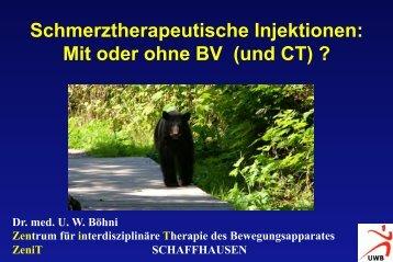 Injektionen mit oder ohne BV? - bei der SAMM