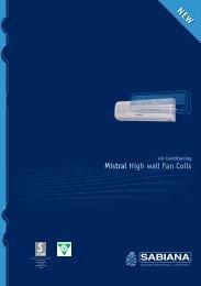 Mistral High wall Fan Coils - MB frigo