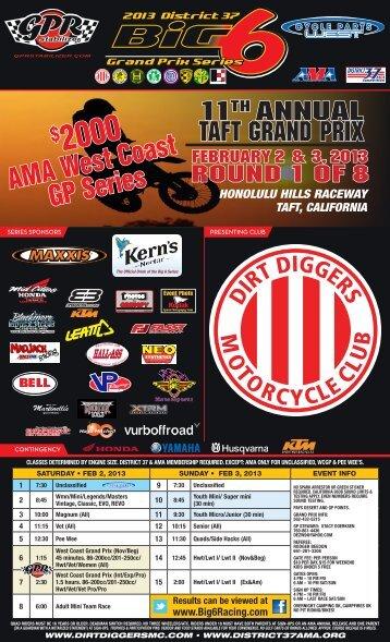 2013 Dirt Diggers Grand Prix - TaftRacing.com