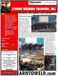 Newsletter December 2012 - Lynnes Welding Training