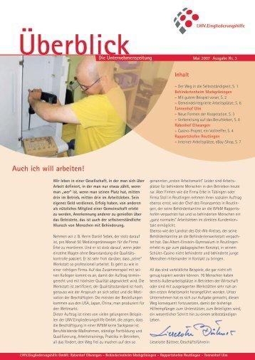 Überblick Mai 2007 - LWV.Eingliederungshilfe GmbH