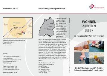 WOHNEN ARBEITEN LEBEN - LWV.Eingliederungshilfe GmbH