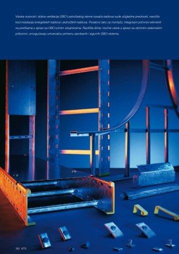 KTS. Sistemi lestvičastih nosača kablova - OBO Bettermann