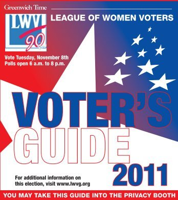 2011 Voter's Guide - League of Women Voters of Greenwich