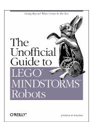 LEGO MINDSTORMS - The Unofficial Guide to Robot…