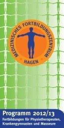 Programm 2012/13 - Med. Fortbildungszentrum Hagen