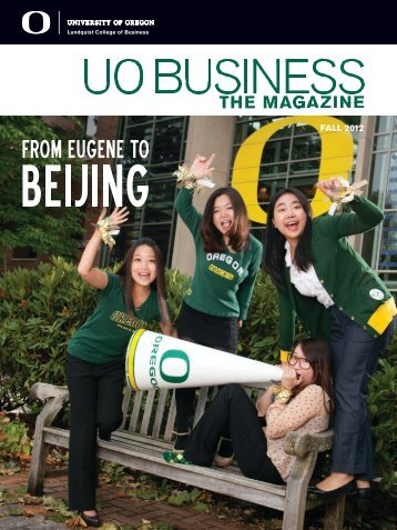 FALL 2012 - Lundquist College of Business - University of Oregon