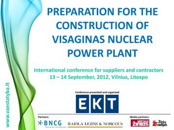 preparation for the construction of visaginas nuclear pp