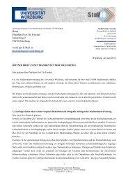 Offener Brief der Studierendenvertretung an Präsident Forchel