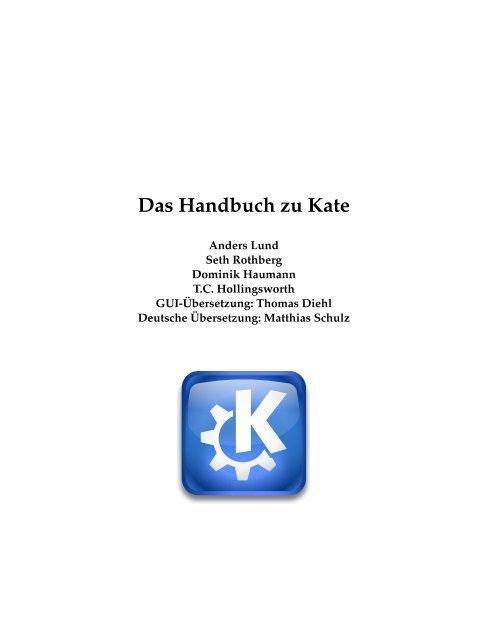 Das Handbuch zu Kate - KDE Documentation