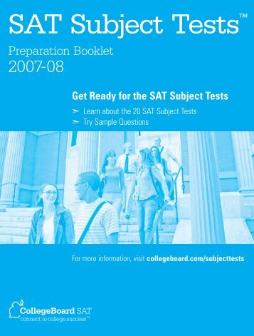 SAT Subject Tests - College Board