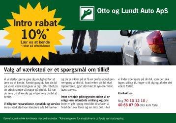 Klik på rabat for mere information - Otto & Lundt Auto ApS