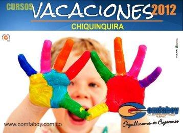 cartilla cursos VACACIONES CHIQUINQUIRA - Comfaboy