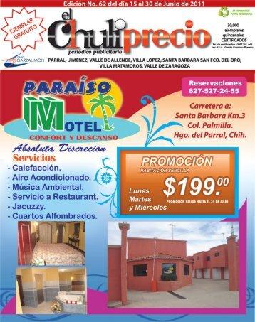 Edición No. 62 del día 15 al 30 de Junio de 2011 - El Chuliprecio