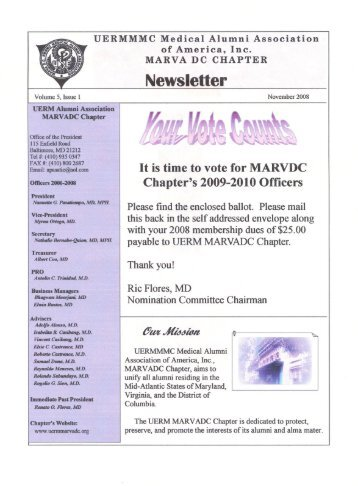 Newsletter - UERMMMC Alumni Foundation USA, Inc.