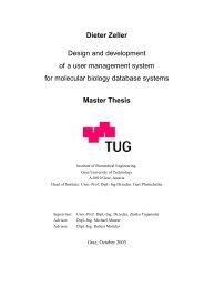 Dieter Zeller Design and development of a user - Genomics ...