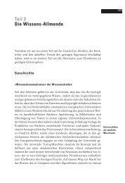 Teil 2 Die Wissens-Allmende - Freie Software zwischen Privat- und ...