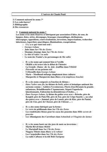 L'univers de Ponti - Académie de Grenoble